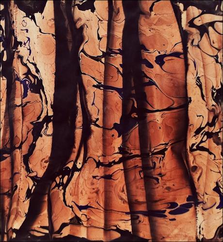 Renate Horn, Vorhang des Lebens, Dekoratives, Symbol, Gegenwartskunst, Abstrakter Expressionismus