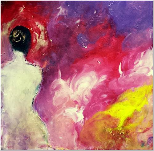 Renate Horn, Abgewandt, I, Akt/Erotik: Akt Frau, Diverse Gefühle, Expressionismus, Abstrakter Expressionismus