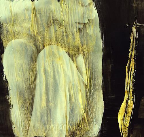 Renate Horn, Im Kokon, Fantasie, Akt/Erotik, Gegenwartskunst, Abstrakter Expressionismus