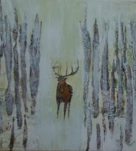 Renate Horn, Innehalten, Tiere, Fantasie, Gegenwartskunst