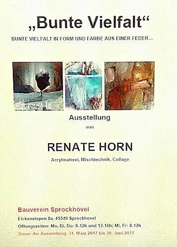 Renate Horn, Vernissage am 31.3.2017, Dekoratives, Abstrakte Kunst