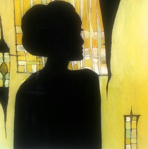 Renate Horn, Lady in black, Menschen: Porträt, Fantasie, Gegenwartskunst