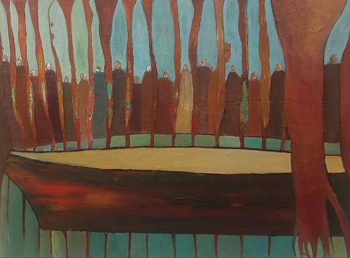 Renate Horn, Blick nach vorne, Menschen, Situationen, Gegenwartskunst, Abstrakter Expressionismus