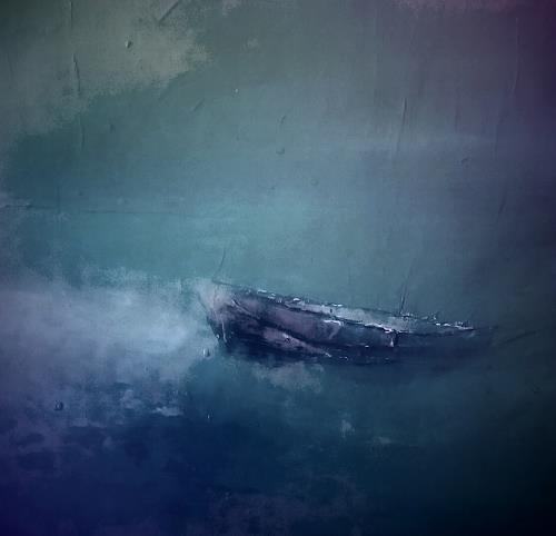 Renate Horn, Stille, Landschaft: See/Meer, Poesie, Gegenwartskunst, Abstrakter Expressionismus