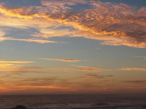 Renate Horn, Abendstimmung am Atlantik, I, Landschaft: See/Meer, Romantik: Sonnenuntergang, Gegenwartskunst