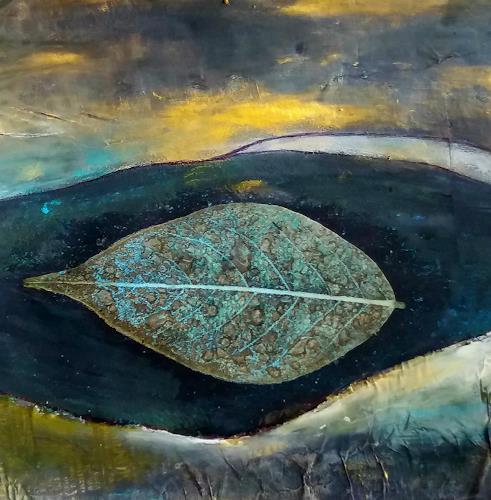 Renate Horn, Treiben, Landschaft: See/Meer, Fantasie, Gegenwartskunst, Expressionismus