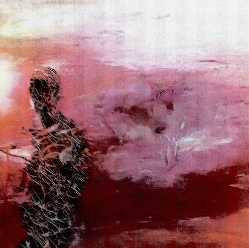 Renate Horn, Kurzer Blick, Menschen: Frau, Landschaft: See/Meer, Gegenwartskunst, Expressionismus