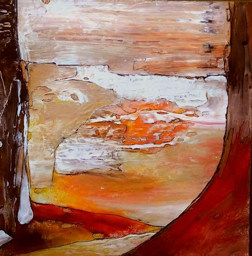 Renate Horn, Somewhere, Landschaft, Gefühle, Gegenwartskunst, Expressionismus