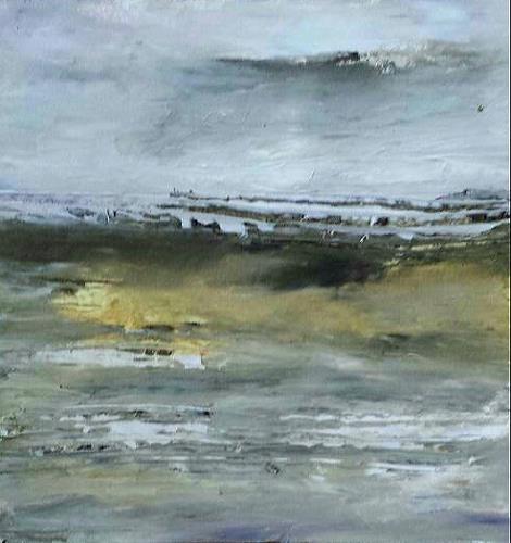 Renate Horn, Stormy, Landschaft: See/Meer, Bewegung, Gegenwartskunst, Abstrakter Expressionismus
