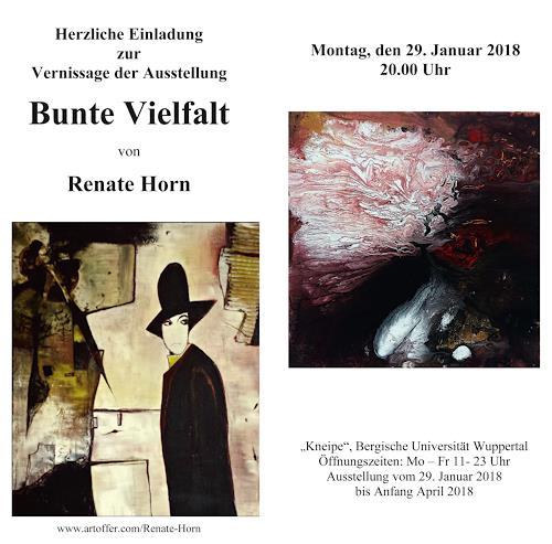Renate Horn, Einladung zur Vernissage, Diverses, Gegenwartskunst