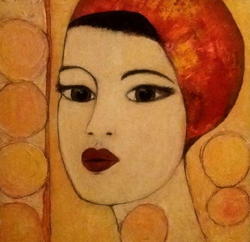 Renate Horn, Sinnlich, Menschen: Frau, Fantasie, Gegenwartskunst, Expressionismus
