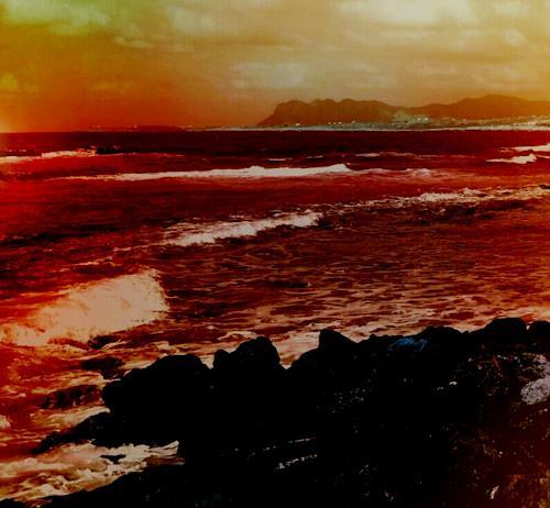 Renate Horn, Nachlese, II, Landschaft: See/Meer, Gefühle, Gegenwartskunst, Abstrakter Expressionismus