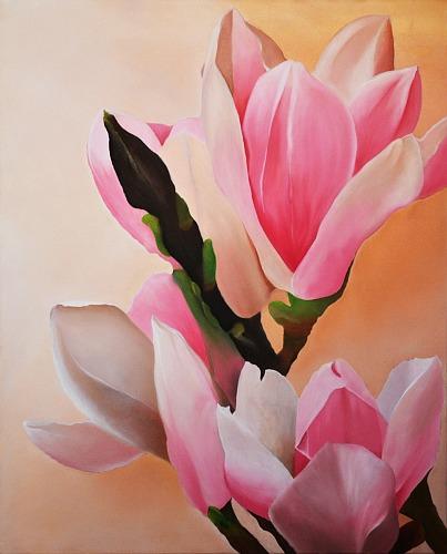 Ralf Schaback, Magnolien, Pflanzen: Blumen, Diverse Pflanzen, Konkrete Kunst, Expressionismus