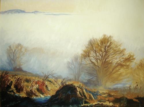 Reiner Dr. med. Jesse, Über den Herbstnebeln, Landschaft: Herbst, Impressionismus, Expressionismus