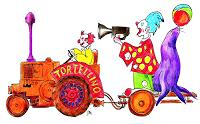 R. Dr. med. Jesse, Umzugswagen des Zirkus Tortellino
