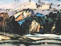Reiner-Dr.-med.-Jesse-Landschaft-Winter-Moderne-Expressionismus