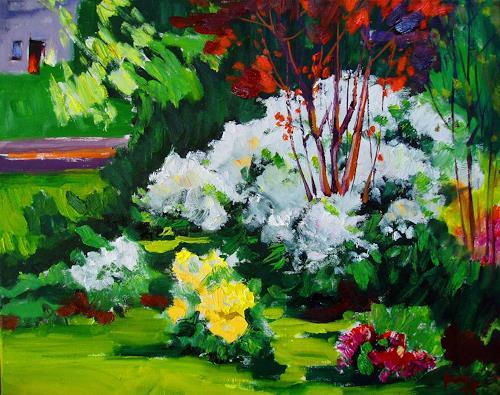 Reiner Dr. med. Jesse, Aus meinem Garten - Cunninghams White am Morgen, Pflanzen: Blumen, Impressionismus, Expressionismus