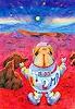R. Dr. med. Jesse, Puggy Pug bekommt Heimweh, als über dem rostroten Mars der blaue Stern Erde aufgeht