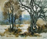 Reiner-Dr.-med.-Jesse-Landschaft-Winter-Moderne-Impressionismus