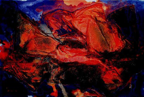 Reiner Dr. med. Jesse, Reflections - Orange, Abstraktes, Abstrakte Kunst, Expressionismus