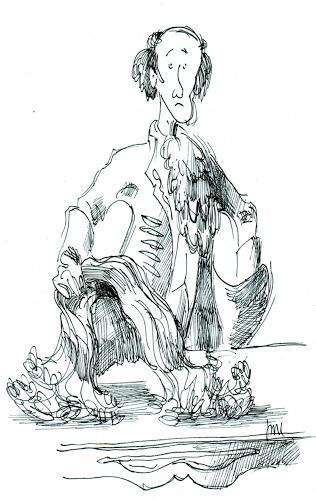 Reiner Dr. med. Jesse, Voltaire ist wütend und wirft seine Perücke auf den Tisch, Fantasie, Realismus