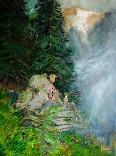 Reiner Dr. med. Jesse, ... von gestern ..., Landschaft: Berge, Naturalismus