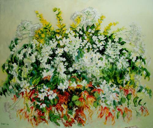 Reiner Dr. med. Jesse, Jasmin und Geisblatt, Pflanzen: Blumen, Impressionismus