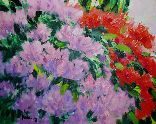 Reiner Dr. med. Jesse, Aus meinem Garten- Rhododendren, Pflanzen: Blumen, Impressionismus
