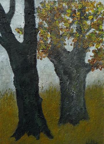 Christa Wetter, Herbstimpressionen, Natur: Wald, Gegenwartskunst
