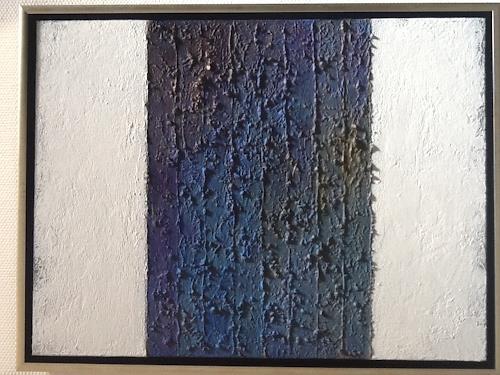 Christa Wetter, Blauabstufungen, Abstraktes, Gegenwartskunst