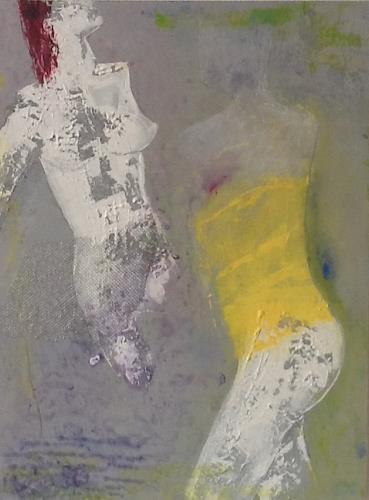 Christa Wetter, Kopflos, Akt/Erotik: Akt Frau, Gegenwartskunst, Abstrakter Expressionismus