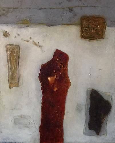 Christa Wetter, Herzauge, Abstraktes, Gegenwartskunst