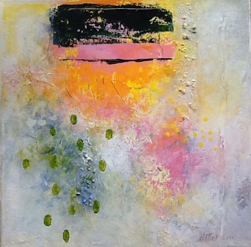 Christa Wetter, Frühlingserwachen 1, Abstraktes, Gegenwartskunst, Expressionismus