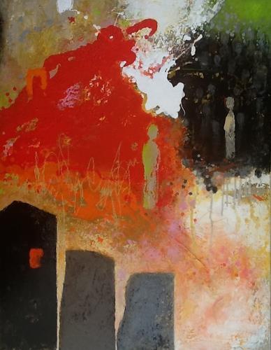 Christa Wetter, Ausgrenzung, Abstraktes, Abstrakter Expressionismus