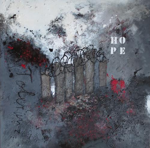 Christa Wetter, Die Mauer in unseren Köpfen, Abstraktes, Abstrakte Kunst