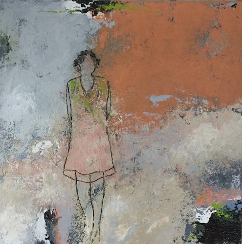 Christa Wetter, Zurückhaltung, Menschen, Abstrakte Kunst