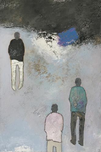 Christa Wetter, Begegnung, Menschen, Abstrakte Kunst