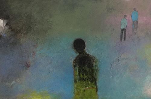 Christa Wetter, verlassen, Menschen, Abstrakte Kunst, Expressionismus