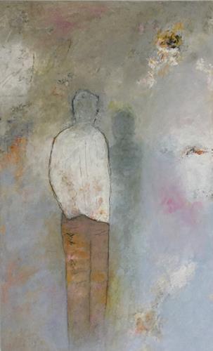 Christa Wetter, neben sich stehen, Menschen: Mann, Abstrakte Kunst, Expressionismus