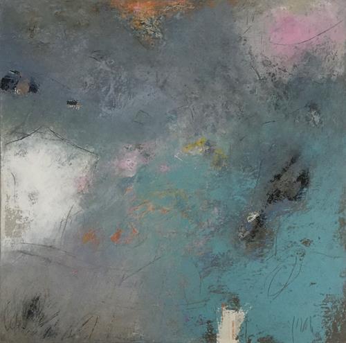 Christa Wetter, einsame Insel, Abstraktes, Abstrakte Kunst
