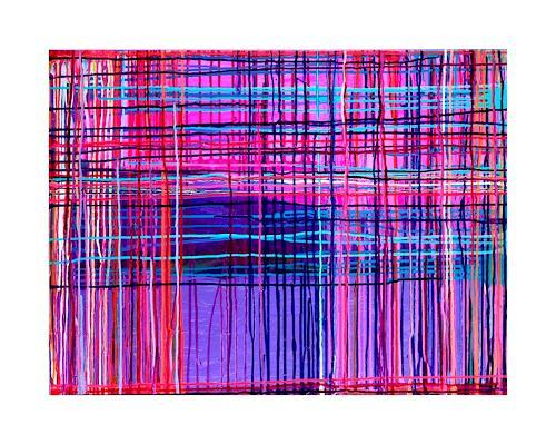 anne samson, dripping, pink, lavendel, Abstraktes, Abstraktes