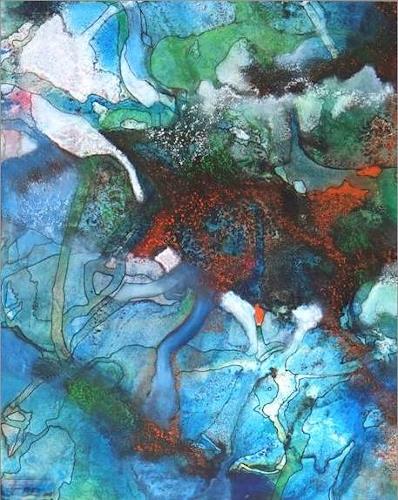 Helga Matisovits, Monde illusoire I, Abstraktes, Romantik, Abstrakter Expressionismus