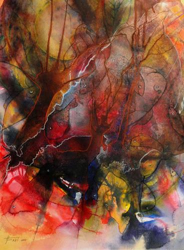 Helga Matisovits, Alles Fisch, Natur: Wasser, Bewegung, Abstrakter Expressionismus