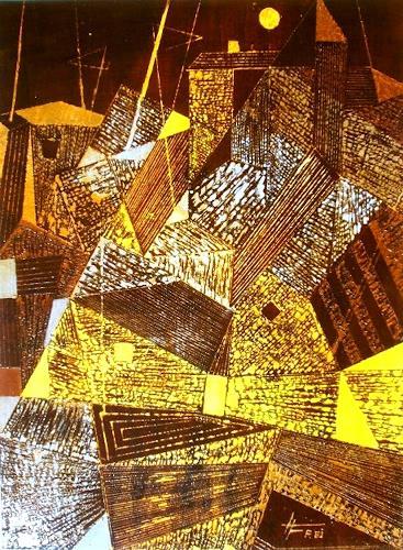 Helga Matisovits, Kubistische Stimmung, Diverse Bauten, Wohnen: Stadt, Abstrakter Expressionismus