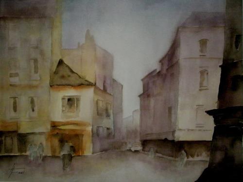 Helga Matisovits, Die Stadt erwacht, Bauten, Wohnen: Stadt, Expressionismus