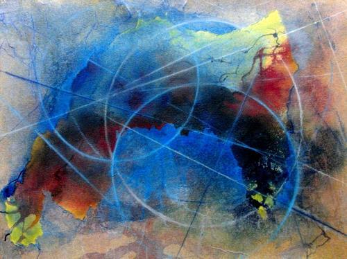 Helga Matisovits, Alles in Bewegung, Abstraktes, Symbol, Expressionismus