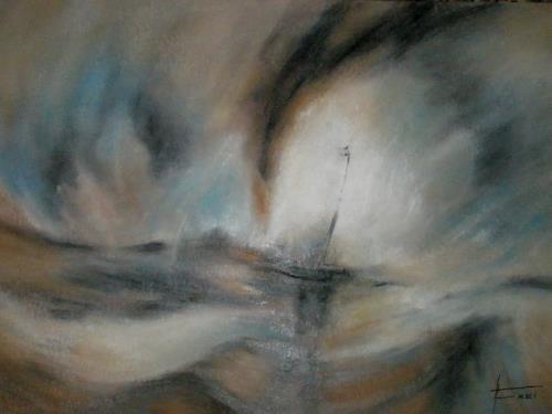 Helga Matisovits, Nach William Turner, Natur: Wasser, Bewegung, Abstrakter Expressionismus