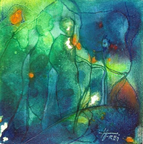 Helga Matisovits, Auf den Arm genommen, Abstraktes, Bewegung, Abstrakte Kunst