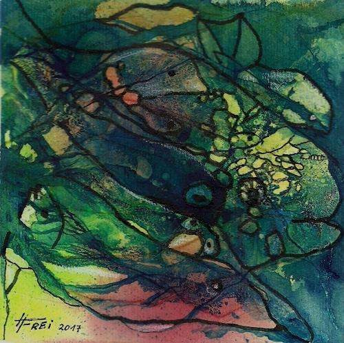 Helga Matisovits, Close together, Tiere, Natur: Wasser, Abstrakte Kunst, Expressionismus