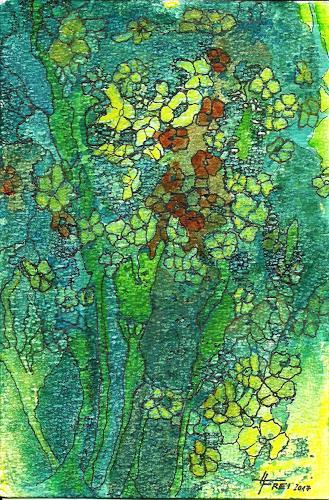 Helga Matisovits, Blütentanz, Natur, Pflanzen, Abstrakte Kunst